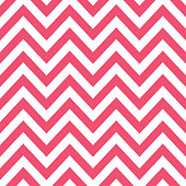 Pink and white chevron decorative seamless pattern background.