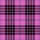 Pink and black girly seamless tartan plaid pattern design.