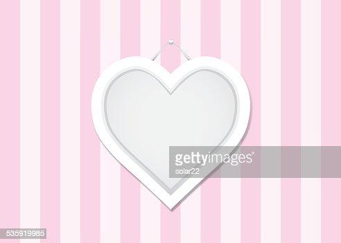 Pink Heart Frame : Vector Art