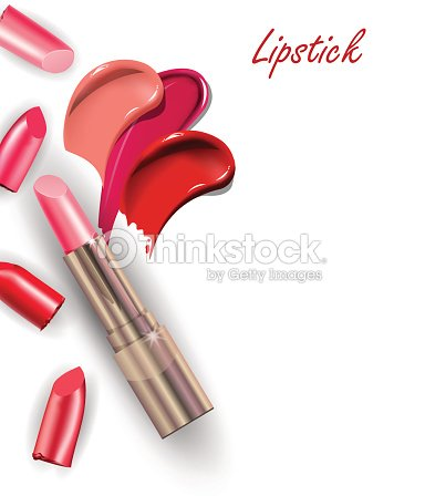 rosa lippenstift und sammlung von verschiedenen smears lippenstift vektorgrafik thinkstock. Black Bedroom Furniture Sets. Home Design Ideas