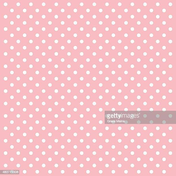Pink Polka Dots Vector Background - VECTOR