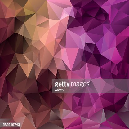pink purple brown polygonal triangular pattern background : Vector Art