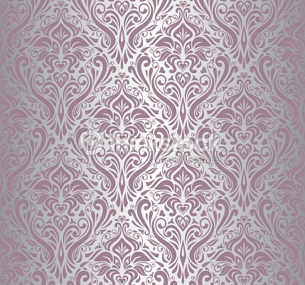 Pink silver vintage wallpaper vector art thinkstock for Pink and silver wallpaper