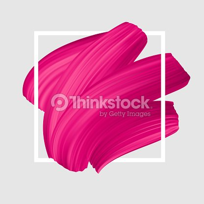 Pink vector lipstick smear. Female girly symbol. : stock vector