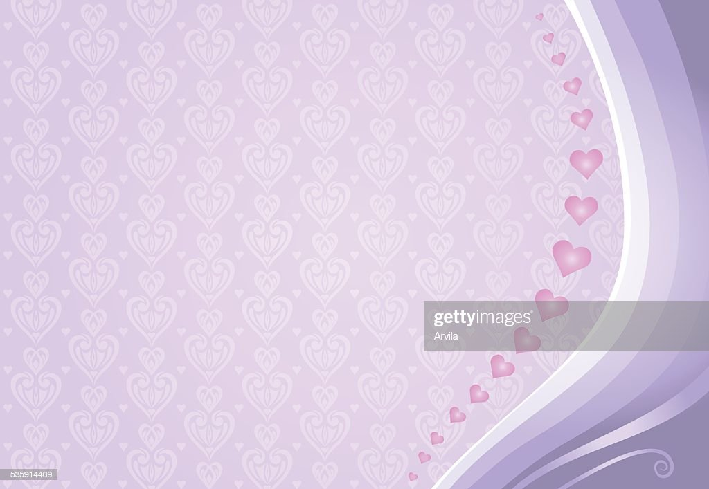 pink & violet valentine's card background : Vector Art