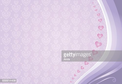 pink & violet valentine's card background : Vector Art