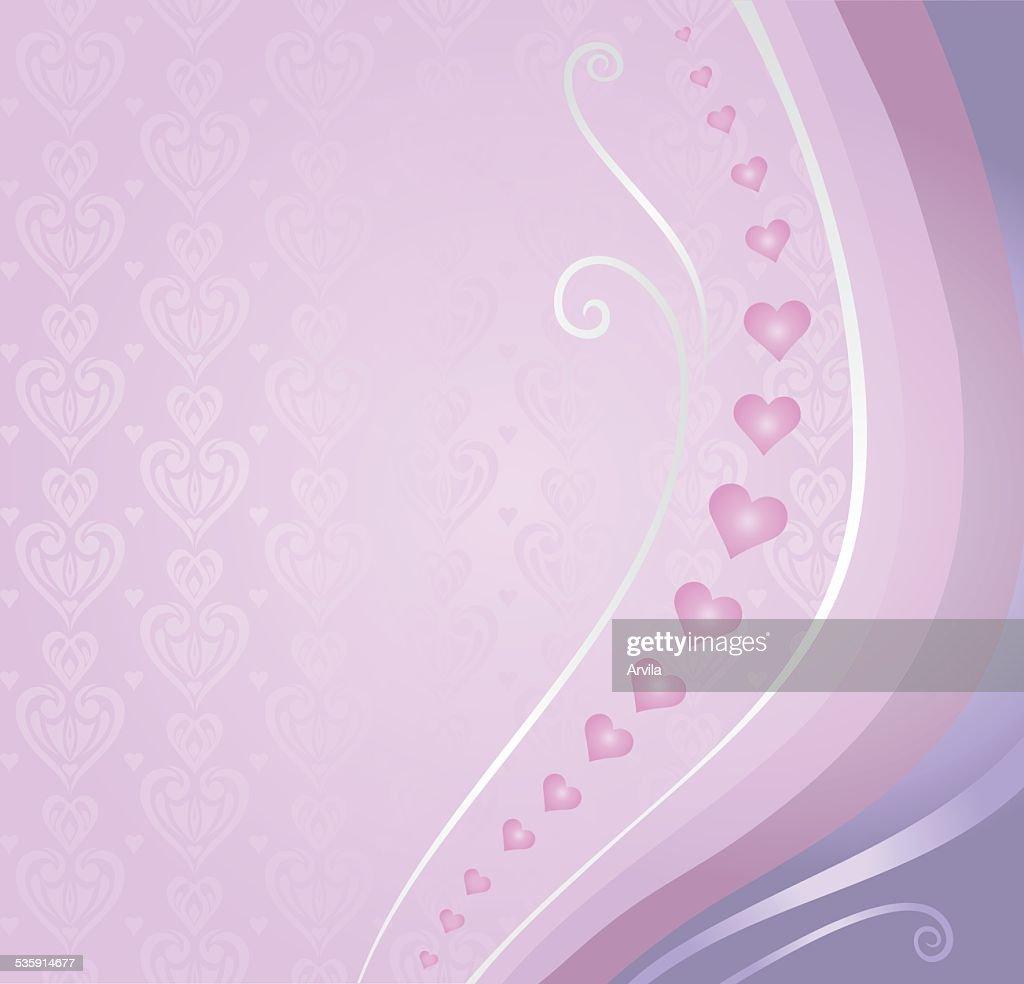 Rosa Violeta & cartão de Dia dos Namorados de fundo : Arte vetorial