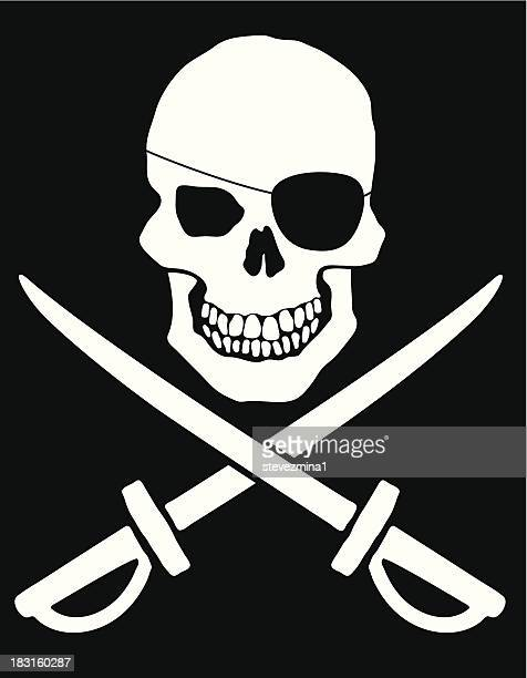 Pirate Flag Silhouette Stock Illustrations And Cartoons ...