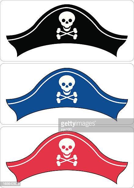 Pirate sombrero en tres colores