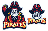 vector of Pirate mascot with the parrot