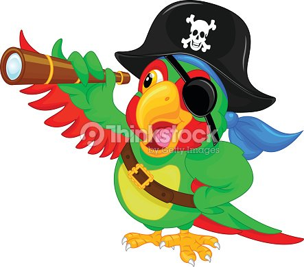 perroquet pirate dessin anim clipart vectoriel