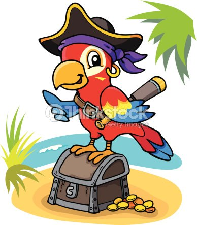 perroquet pirate clipart vectoriel