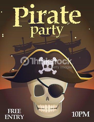 pirate party invitation template vector art thinkstock
