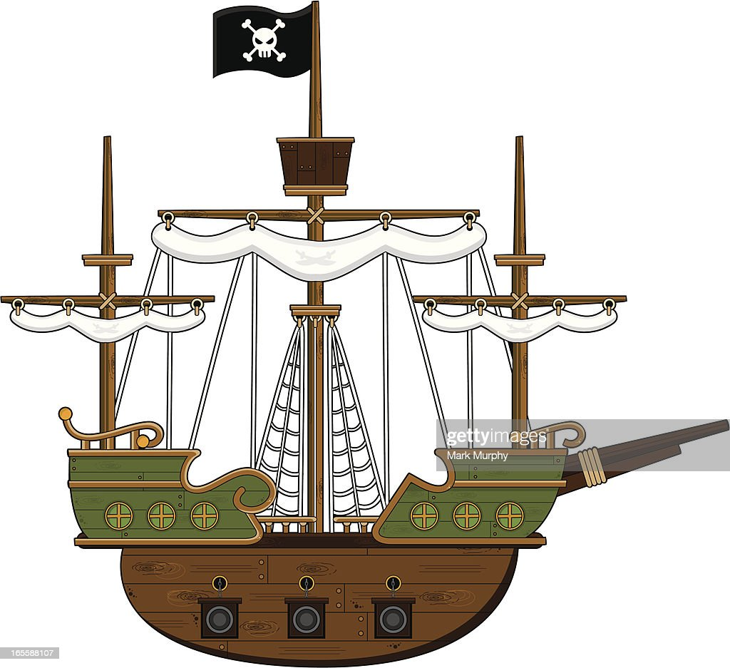 pirate ship vector art getty images