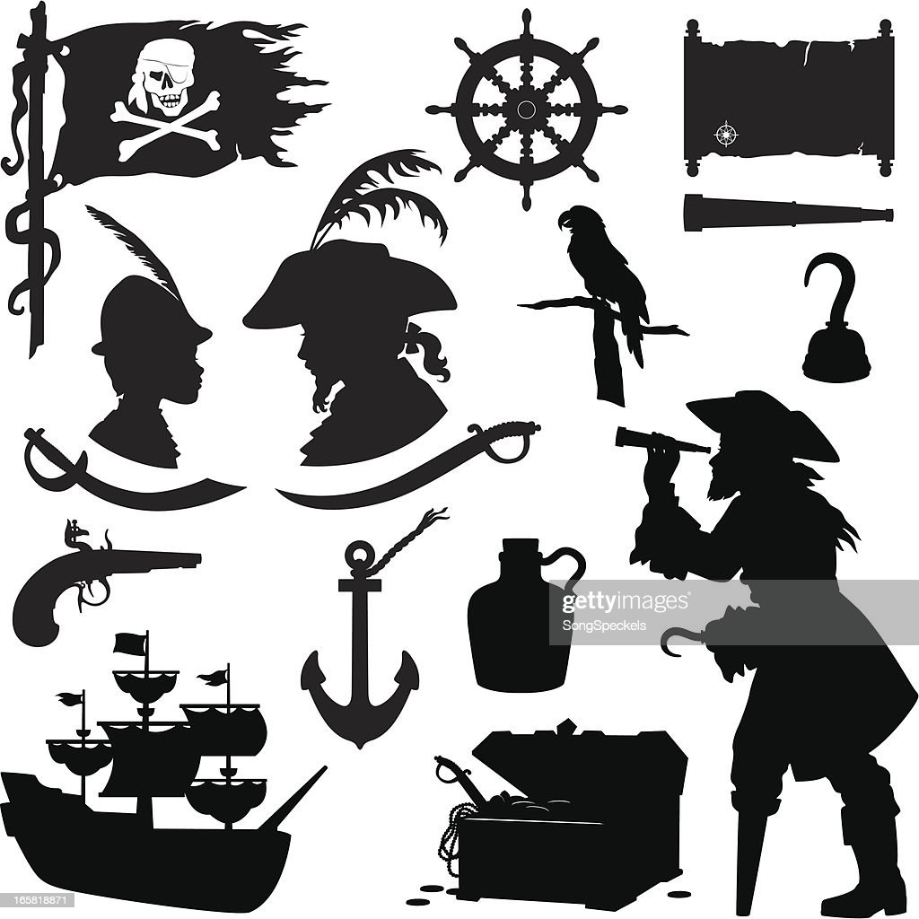 Pirate Silhouettes Vector Art | Getty Images