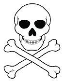Pirate Skull And Crossbones Vector Illustration Vector Art