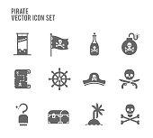 Adventure Pirate vector icon set