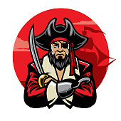 vector of pirate with sword