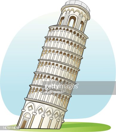 Leaning Tower Of Pisa Stock Illustrations and Cartoons ...