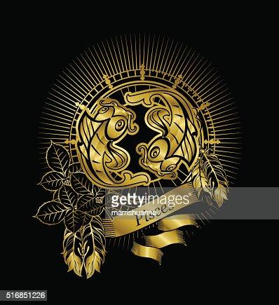 Pisces Zodiac Sign Vector Art Thinkstock