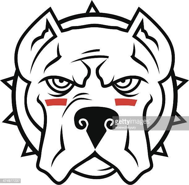 pitbull vector mascot