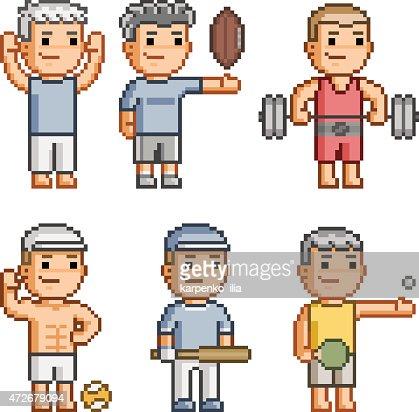 pixel art rugby