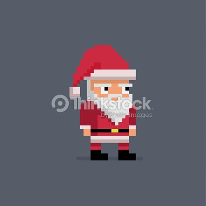 2e2d15e1140d Pixel Art Cute Santa Claus stock vector