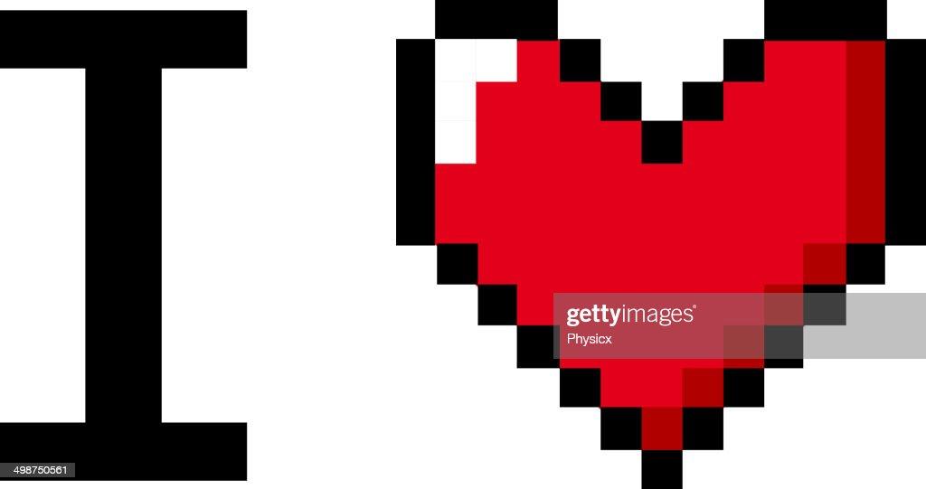 pixel art i love you vector art getty images. Black Bedroom Furniture Sets. Home Design Ideas