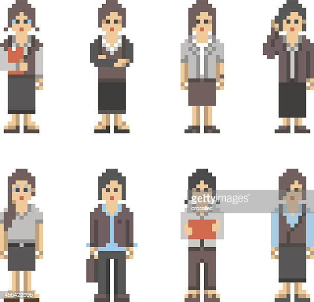 Pixel Art People - Business Woman