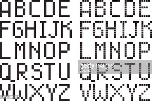 pixel art w