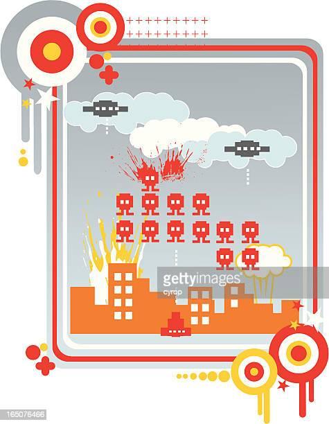 pixel city under siege
