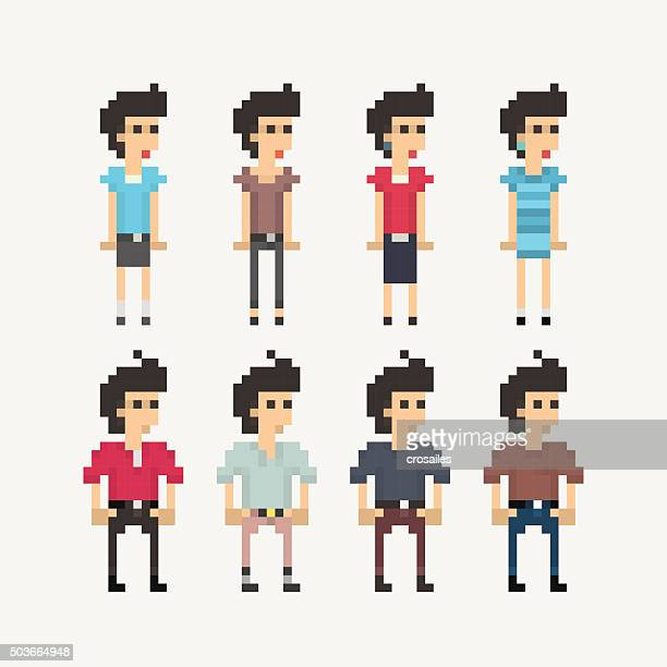 Pixel People - Girls and Boys