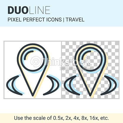 pixel perfekte duo line zeiger kartensymbol auf wei en und. Black Bedroom Furniture Sets. Home Design Ideas