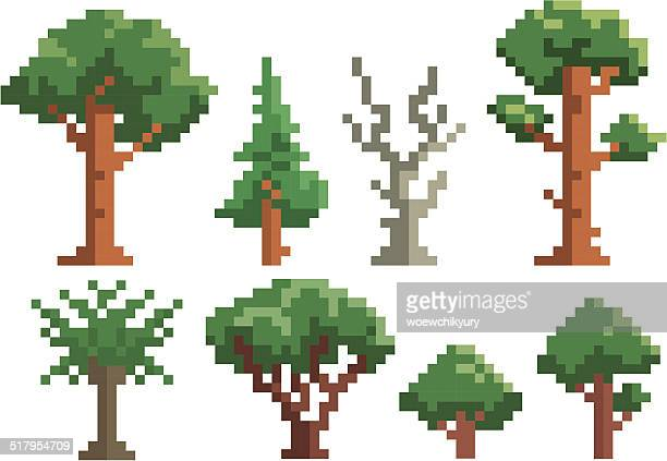 pixel tree vector