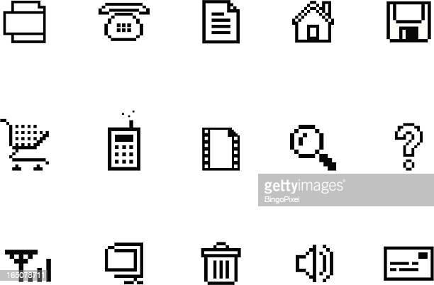 Pixel & Set di icone di Internet sito web