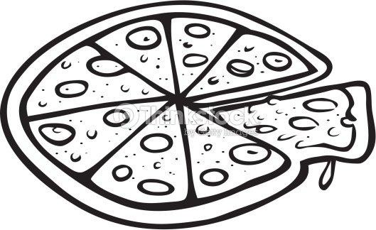 Pizza De Contorno Arte vectorial | Thinkstock