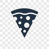 Pizza Piece vector icon isolated on transparent background, Pizza Piece transparency logo concept