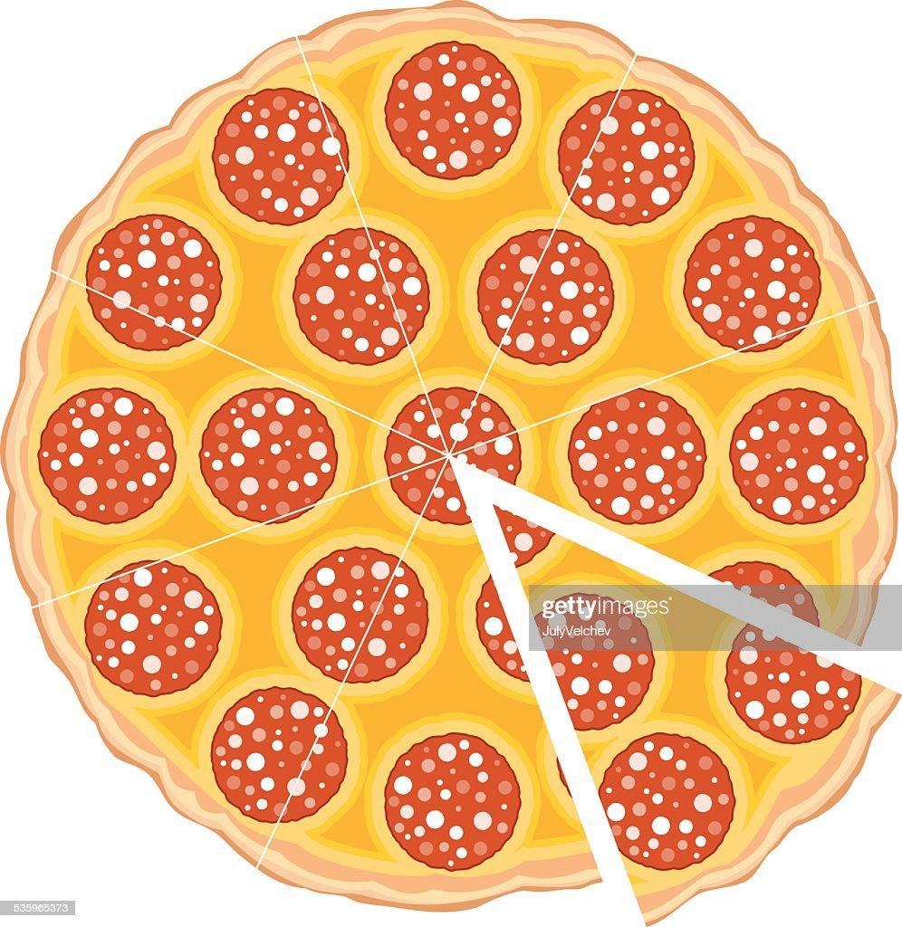 pizza slice : Vector Art