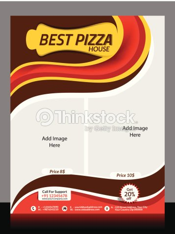 Pizza Store Flyer Template Vector Art Thinkstock