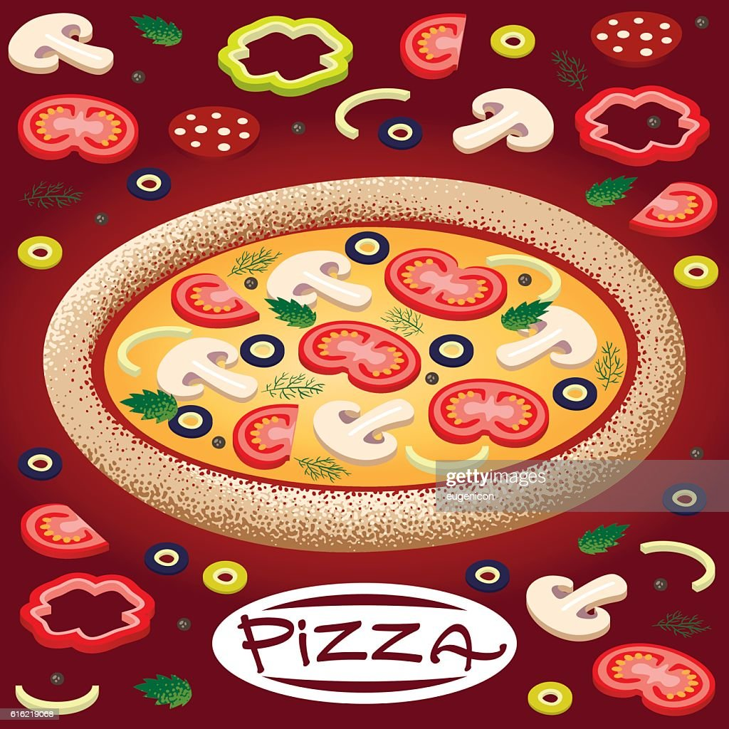 pizza : Vector Art