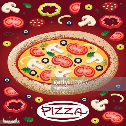 pizza : Vectorkunst