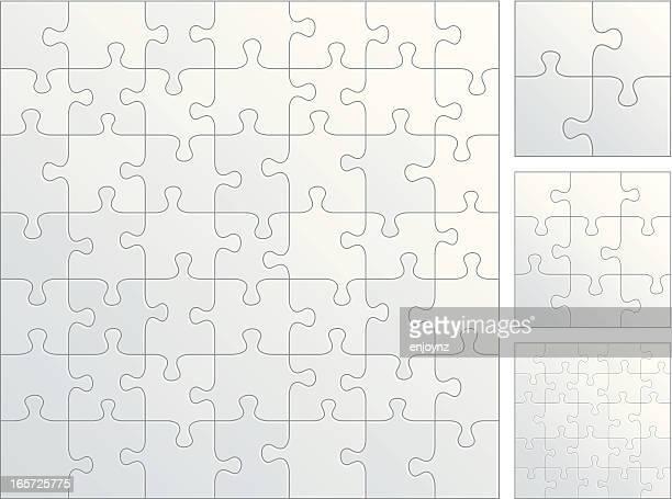 Plain puzzle pieces