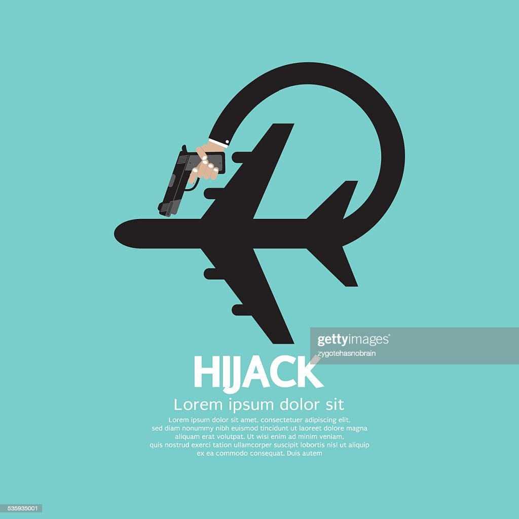 Plane Hijack Concept Abstract Design : Vector Art