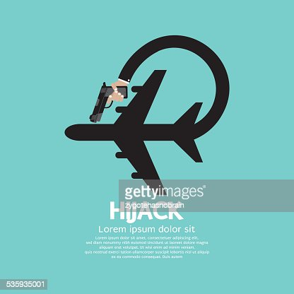 Plane Hijack Concept Abstract Design : Vector Art