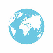 Planet Earth icon. Earth globe isolated on white background. Vector