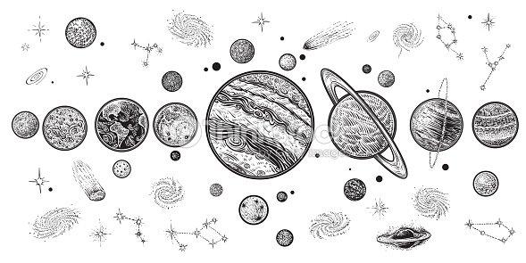 alien grafic | Dibujos simples, Dibujos, Dibujo minimalista  |Astronomy Line Drawing