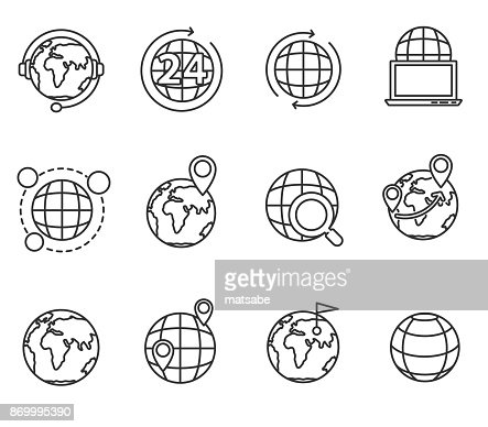 planets icons set. : stock vector
