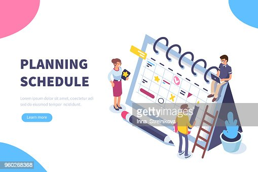 planning schedule : stock vector
