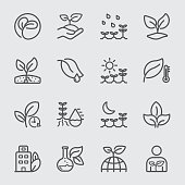 Plants and Growth line icon