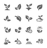 Simple Set of Plants Related Vector Icons for Your Design. Vector EPS 10 Format. Well Organized and Layered. Fully Editable. Can Be Customized and Resized.